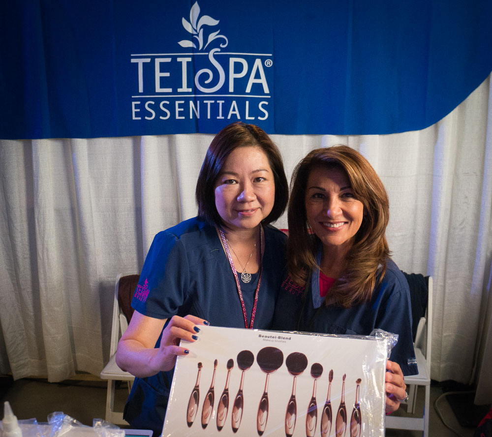 Tei Spa owner Pei Eichel (left) and friend