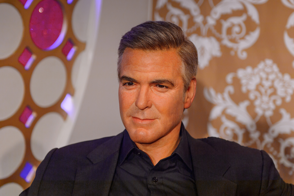 George Clooney is a model for a chin augmentation