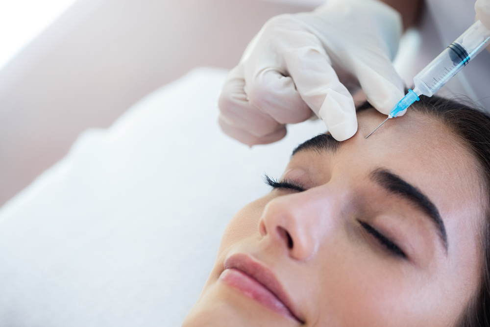 botox treatment to glabellar lines