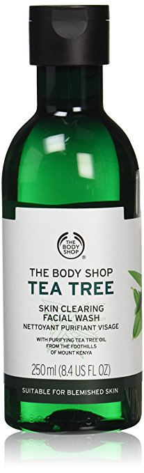 The Body Shop Tea Tree Skin Clearing Facial Wash for Blemish-Prone Skin, 100% Vegan, 8.4 Fl. Oz.