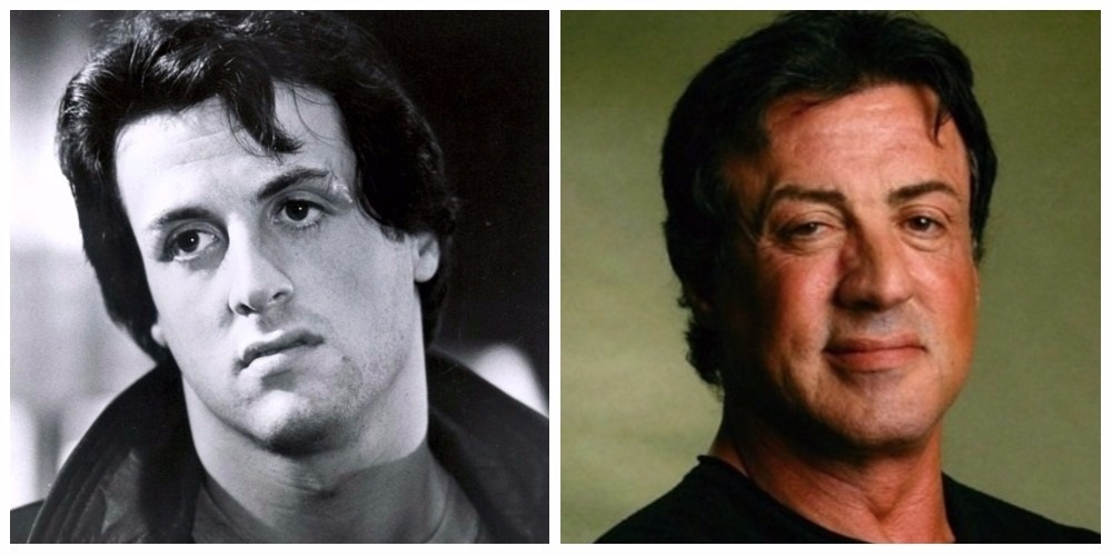 stallone before and after