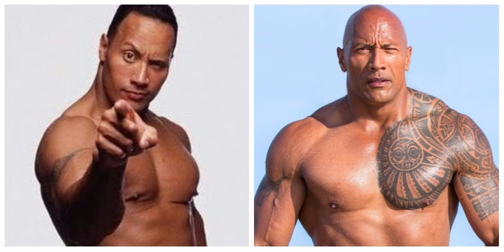 The Rock, before and after liposuction