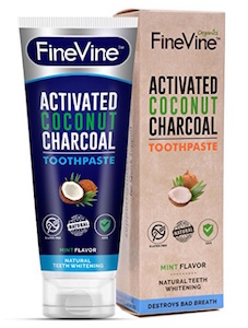 FineVine Activated Coconut Charcoal Toothpaste