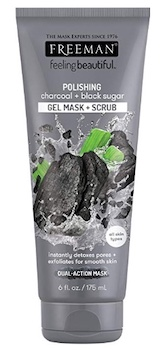Freeman Charcoal and Black Sugar Polish Mask