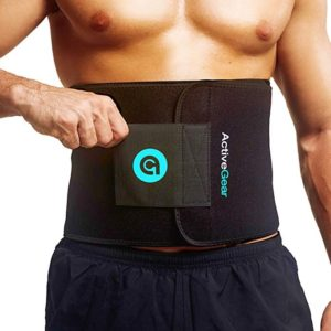 ActiveGear Waist Trimmer Belt Slim Body Sweat Wrap for Stomach and Back Lumbar Support